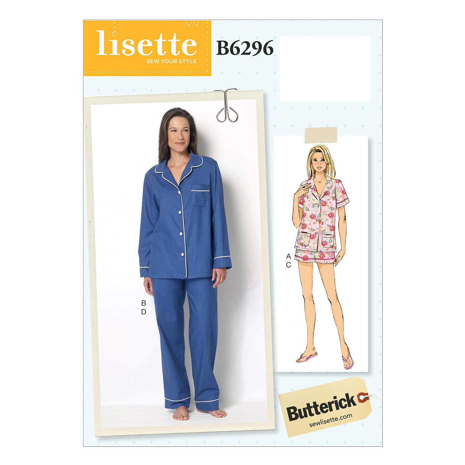 Butterick B6296 Misses' Top, Shorts and Pants