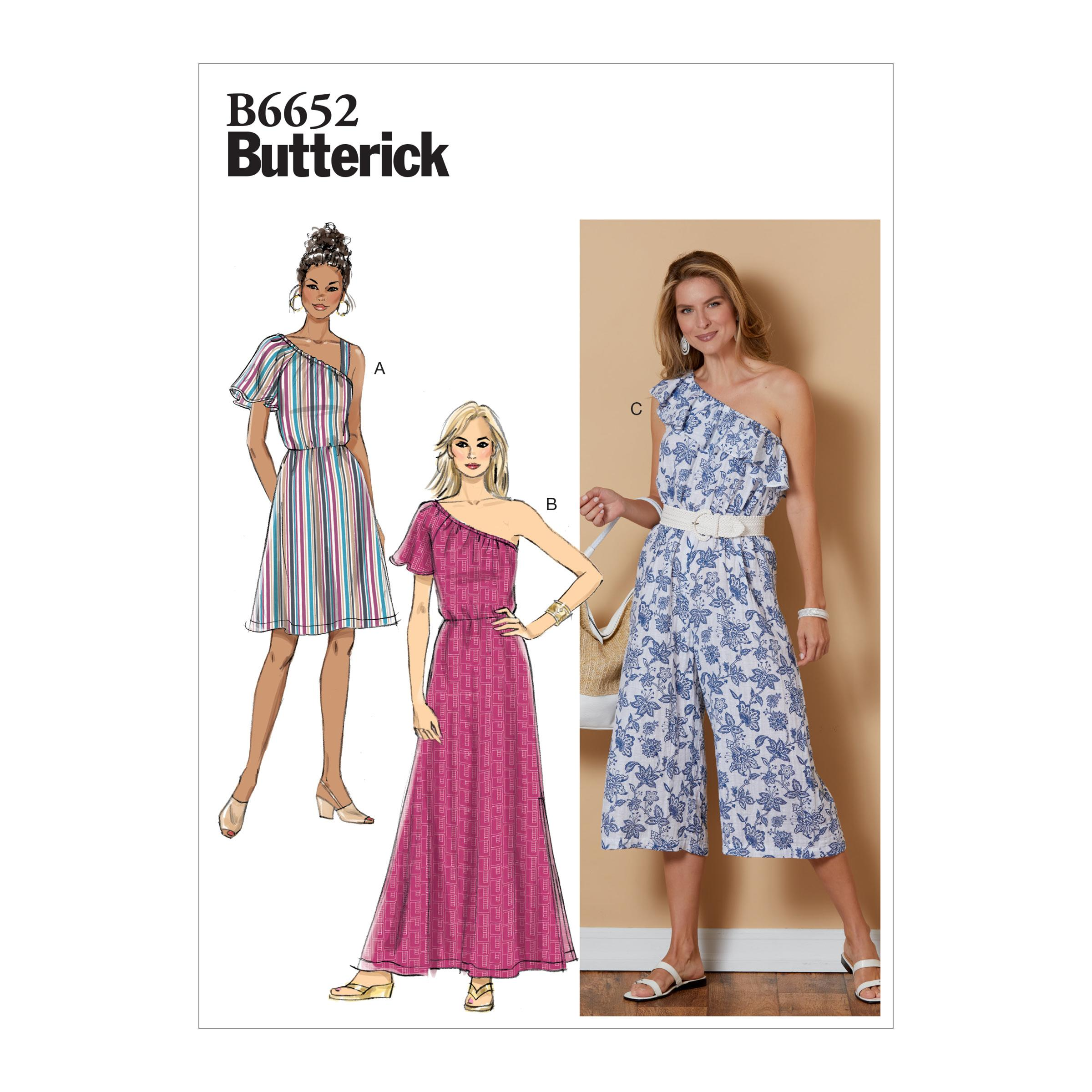 Butterick B6652 Misses' Dress and Jumpsuit