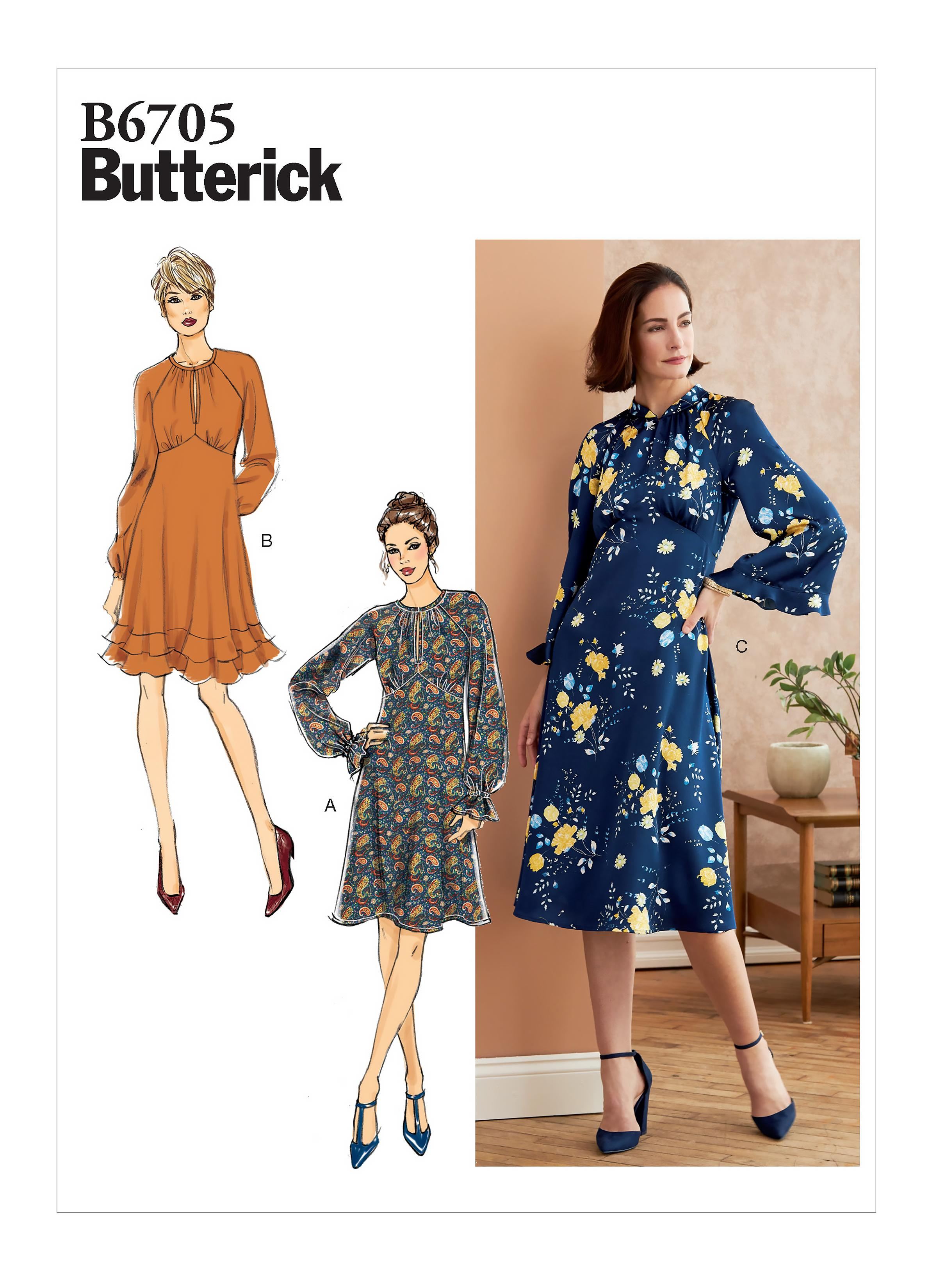 Butterick B6705 Misses' Dress