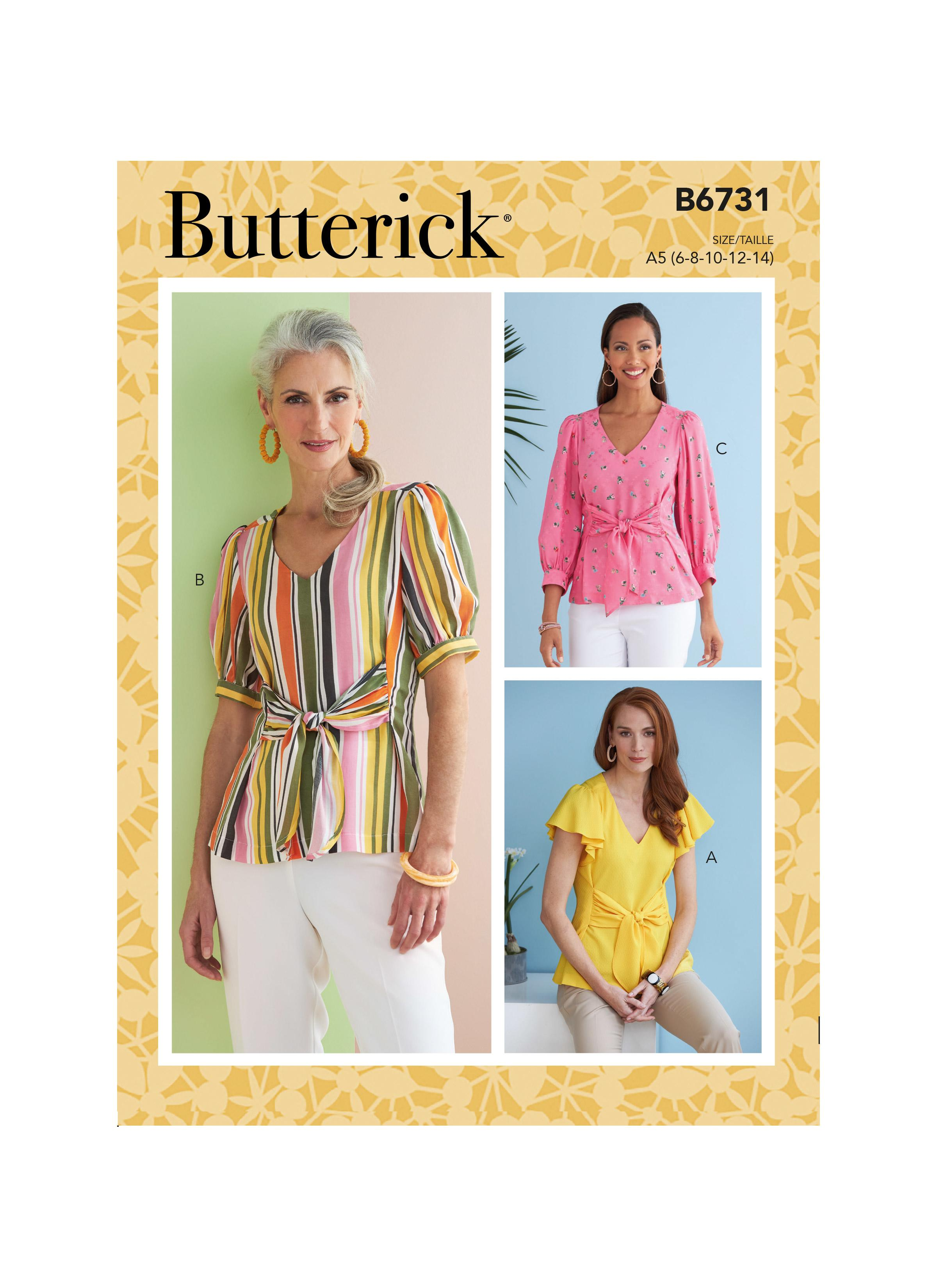 Butterick B6731 Misses' Top