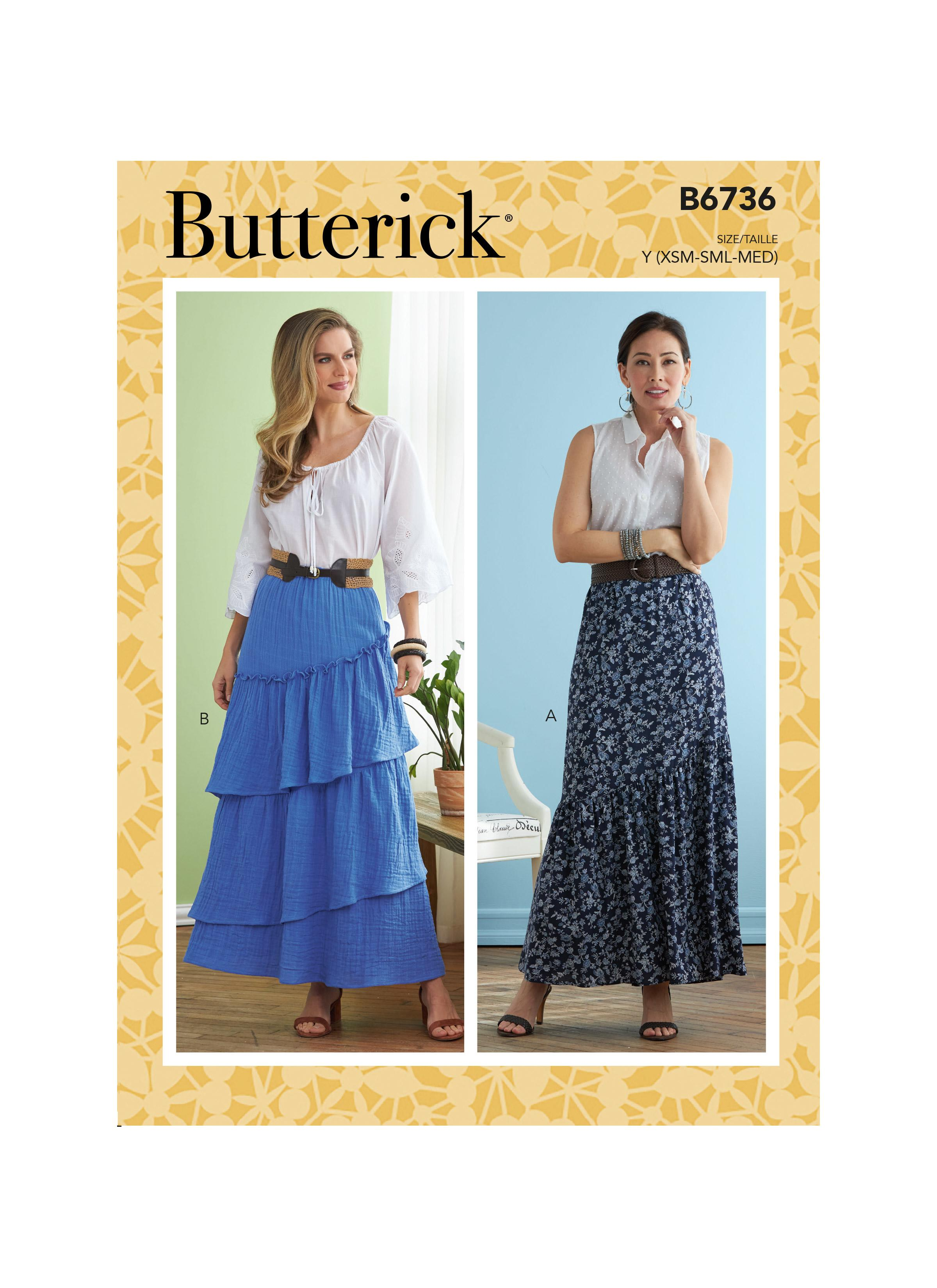 Butterick B6736 Misses' Skirts