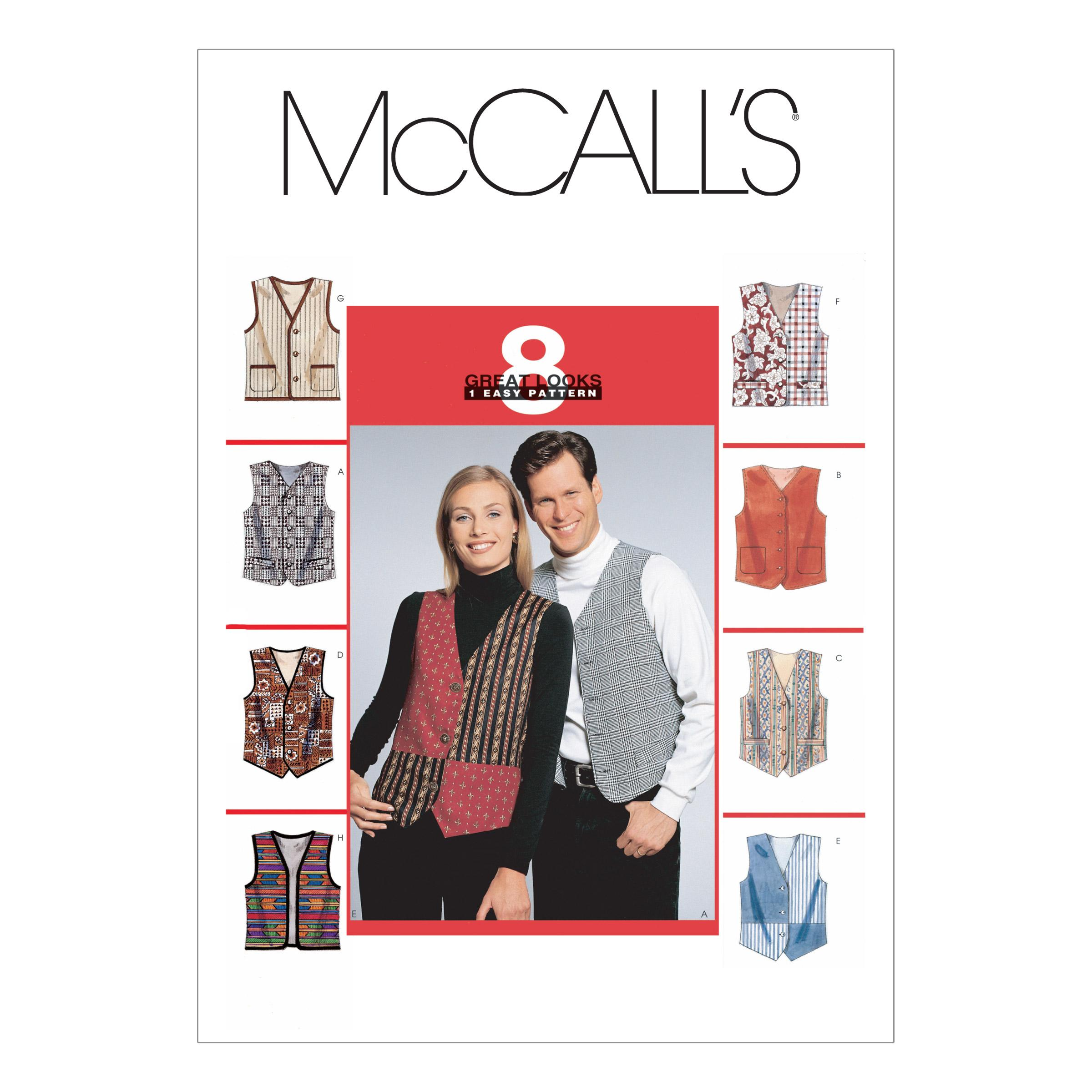 McCalls M6228 Jackets/Vests, Men