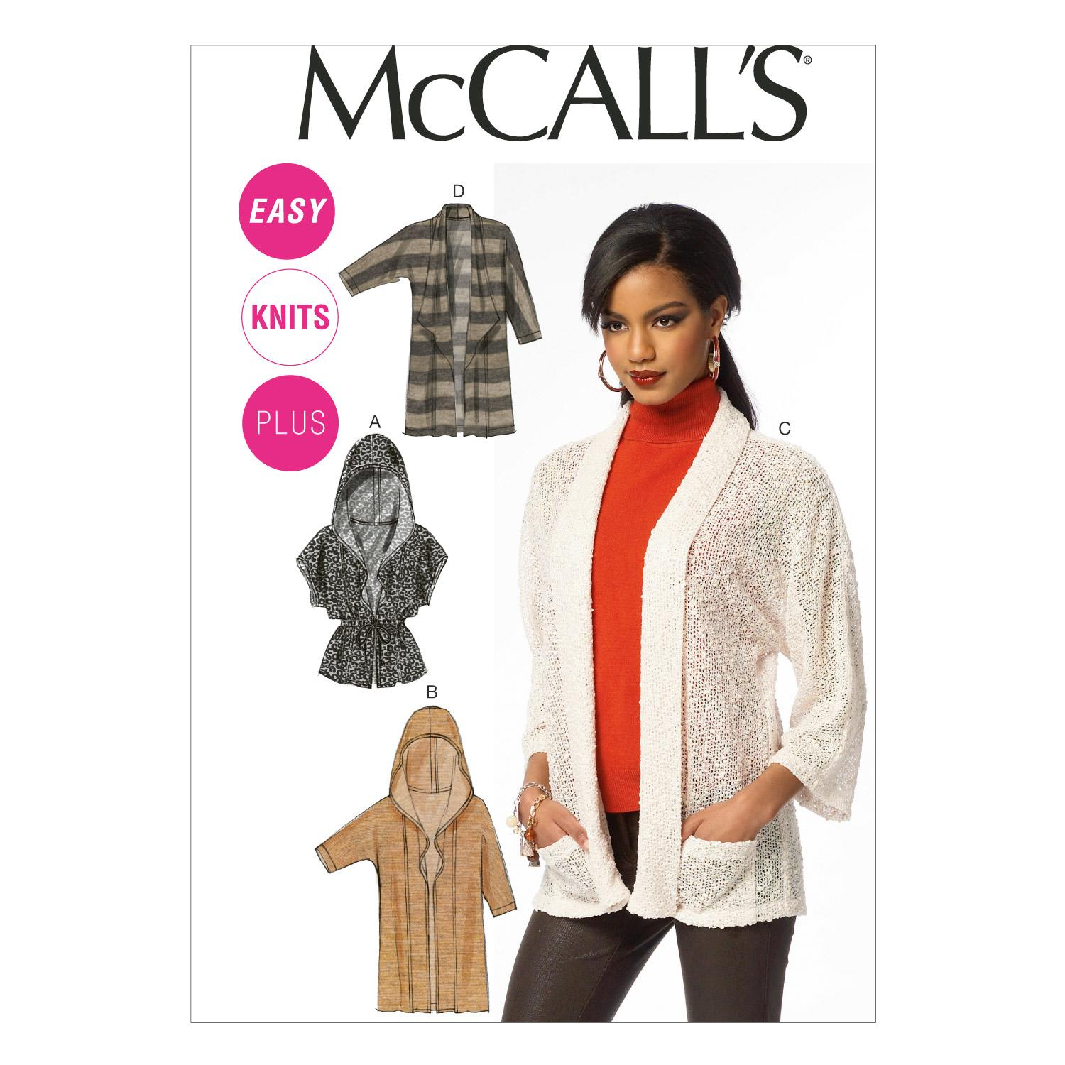 McCalls M6802 Jackets/Vests, Plus Size