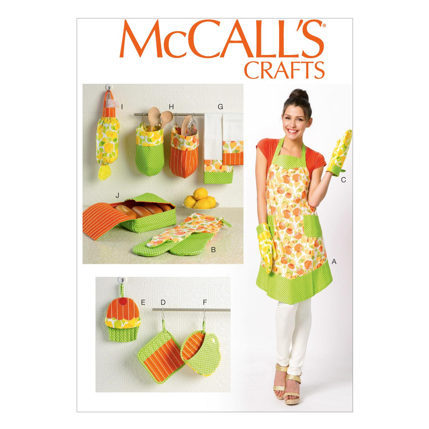 McCalls M6978 Aprons, Crafts/Dolls/Pets, Home Decorating