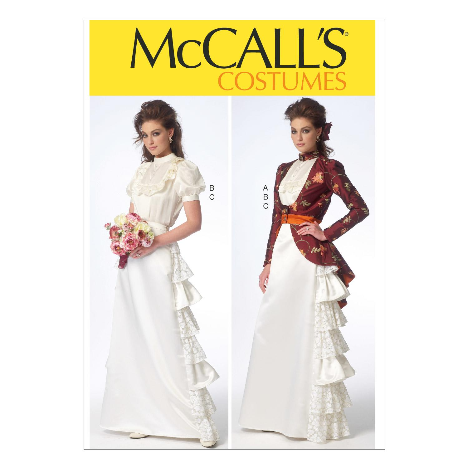 McCalls M7071 Bridal, Costumes, Jackets, Skirts, Bustles & Petticoats, Tops, Shirts & Tunics