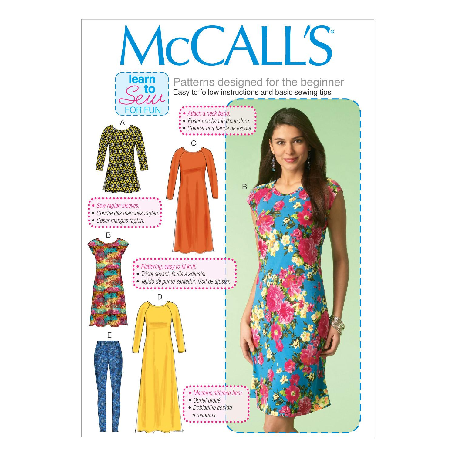 McCalls M7122 Dresses, Learn To Sew for Fun