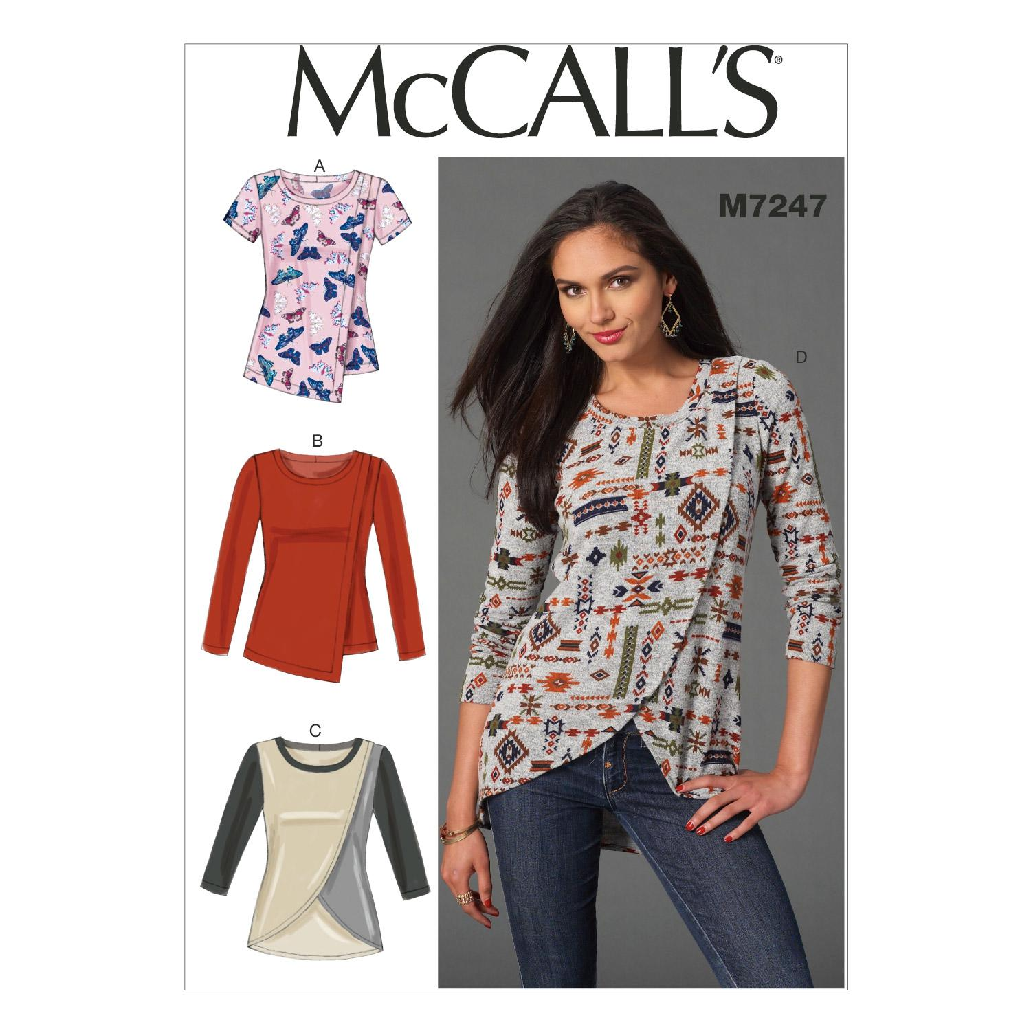 McCalls M7247 Tops/Tunics