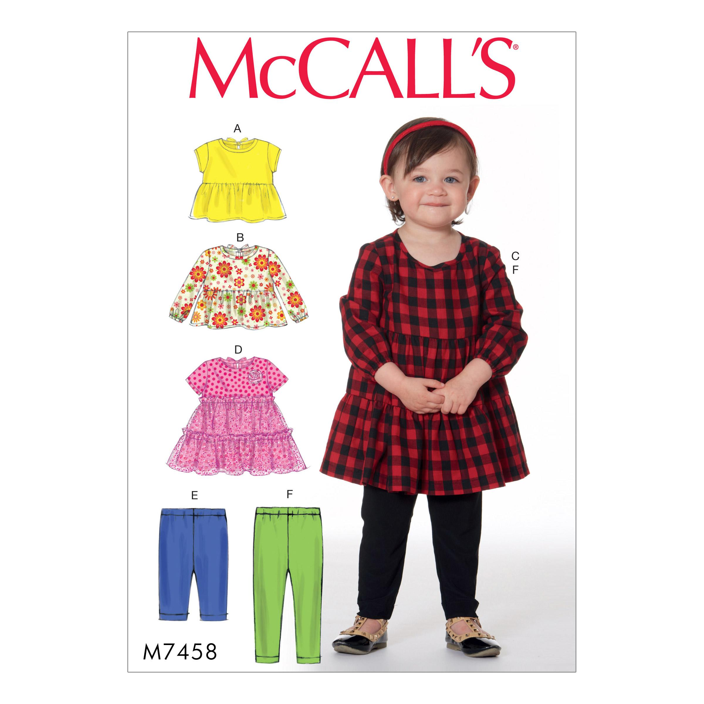 McCalls M7458 Kids Infants & Toddlers