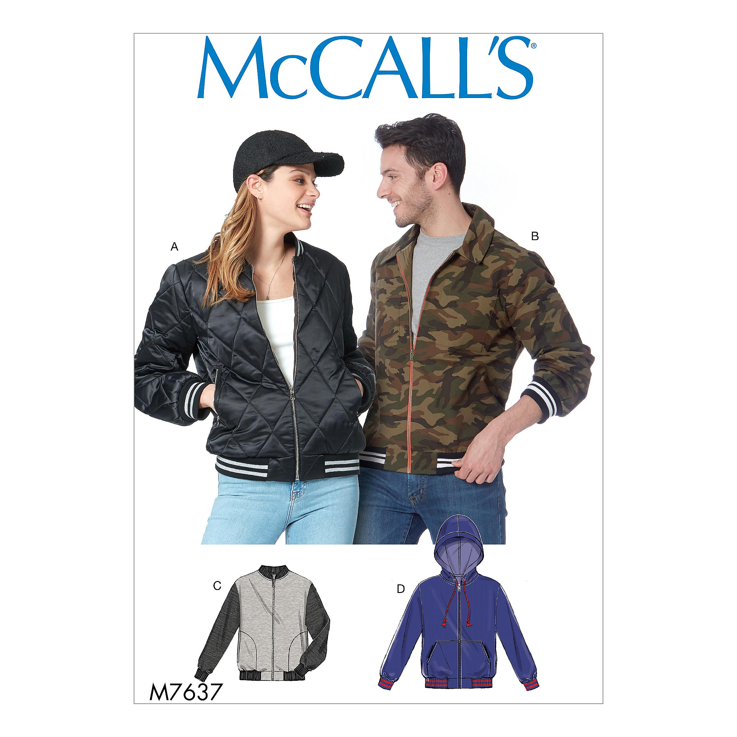 McCalls M7637 Misses Jackets & Vests, Men, Activewear