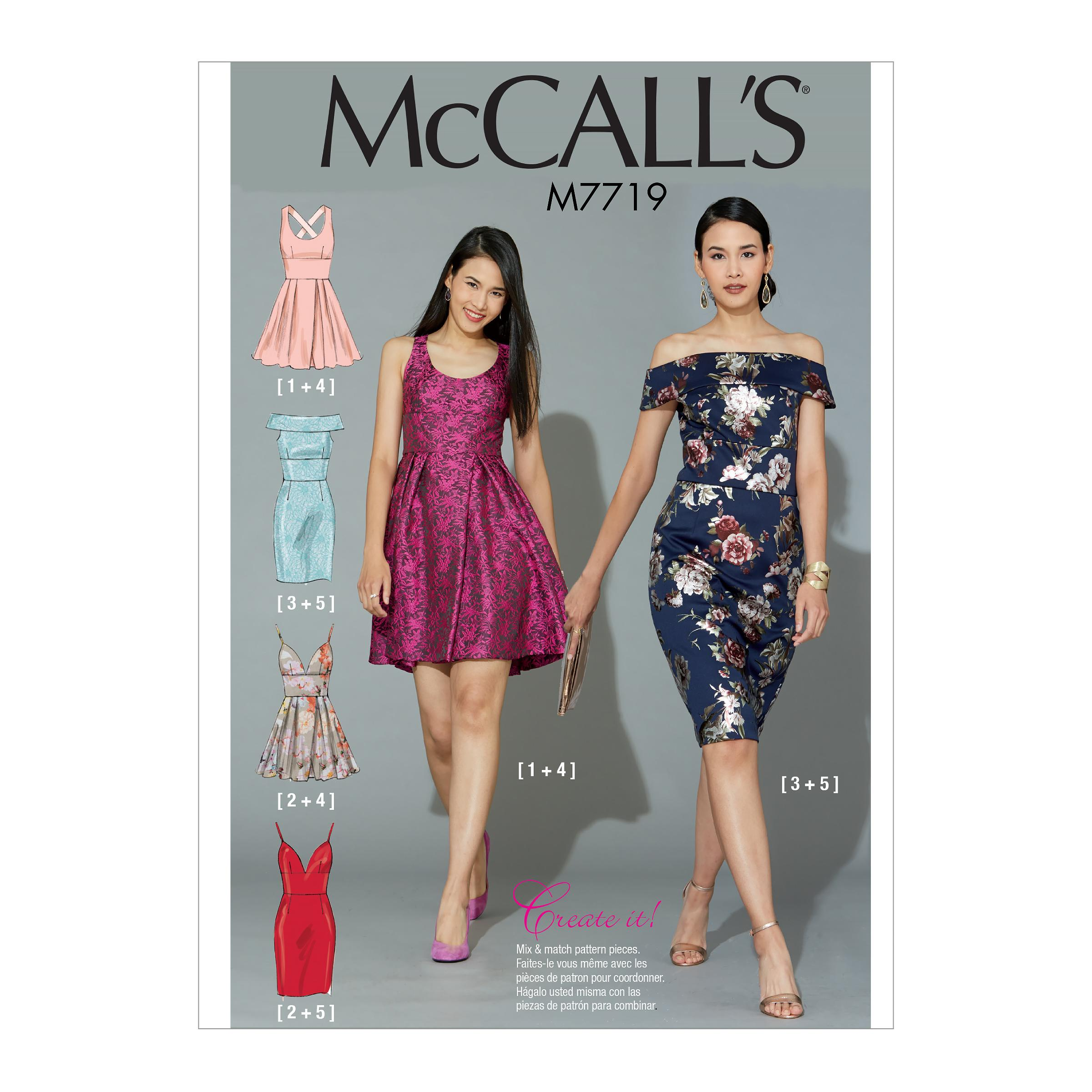 McCalls M7719 Misses Dresses, Misses Prom, Evening & Bridal