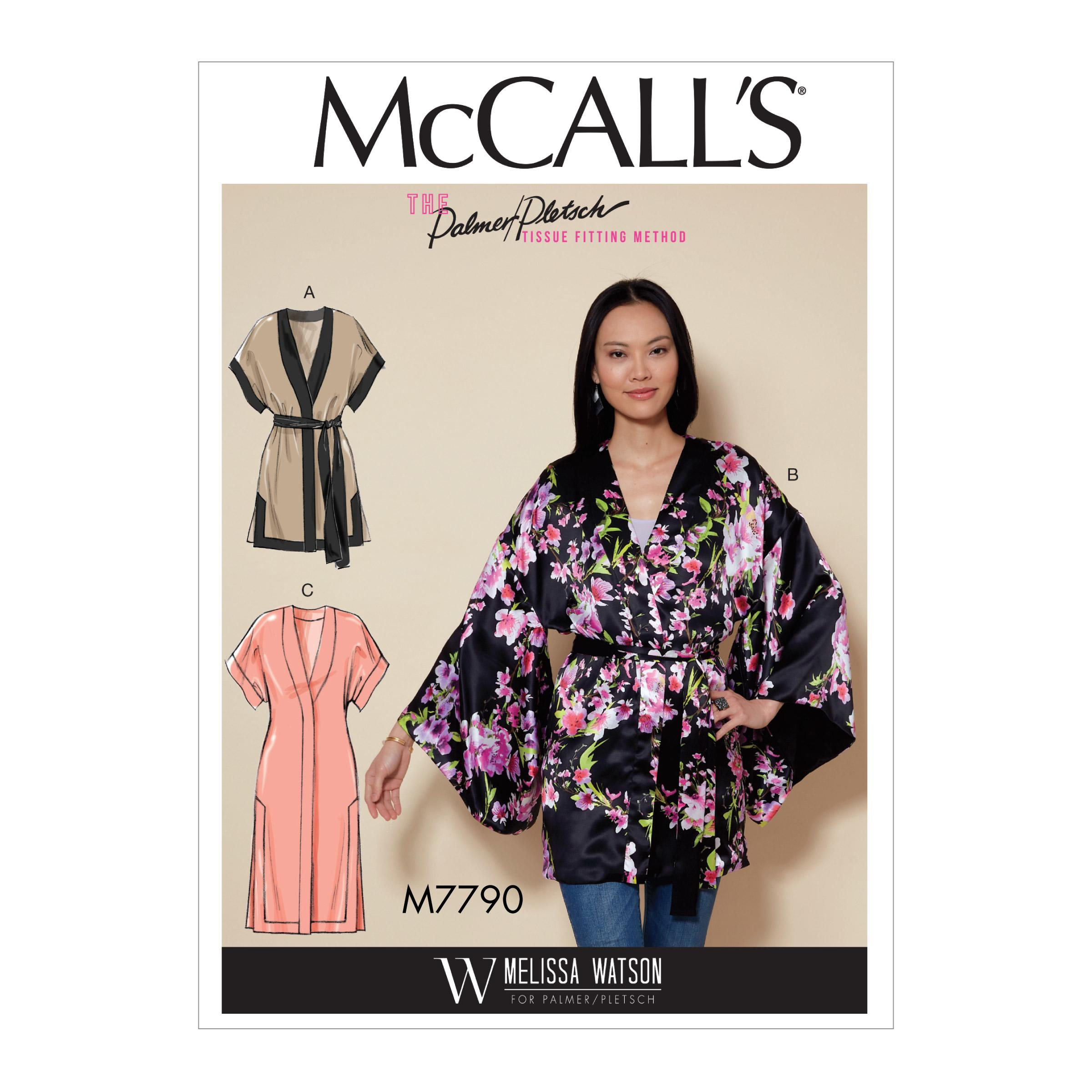McCalls M7790 Misses Jackets & Vests, Misses Coats, Capes & Ponchos