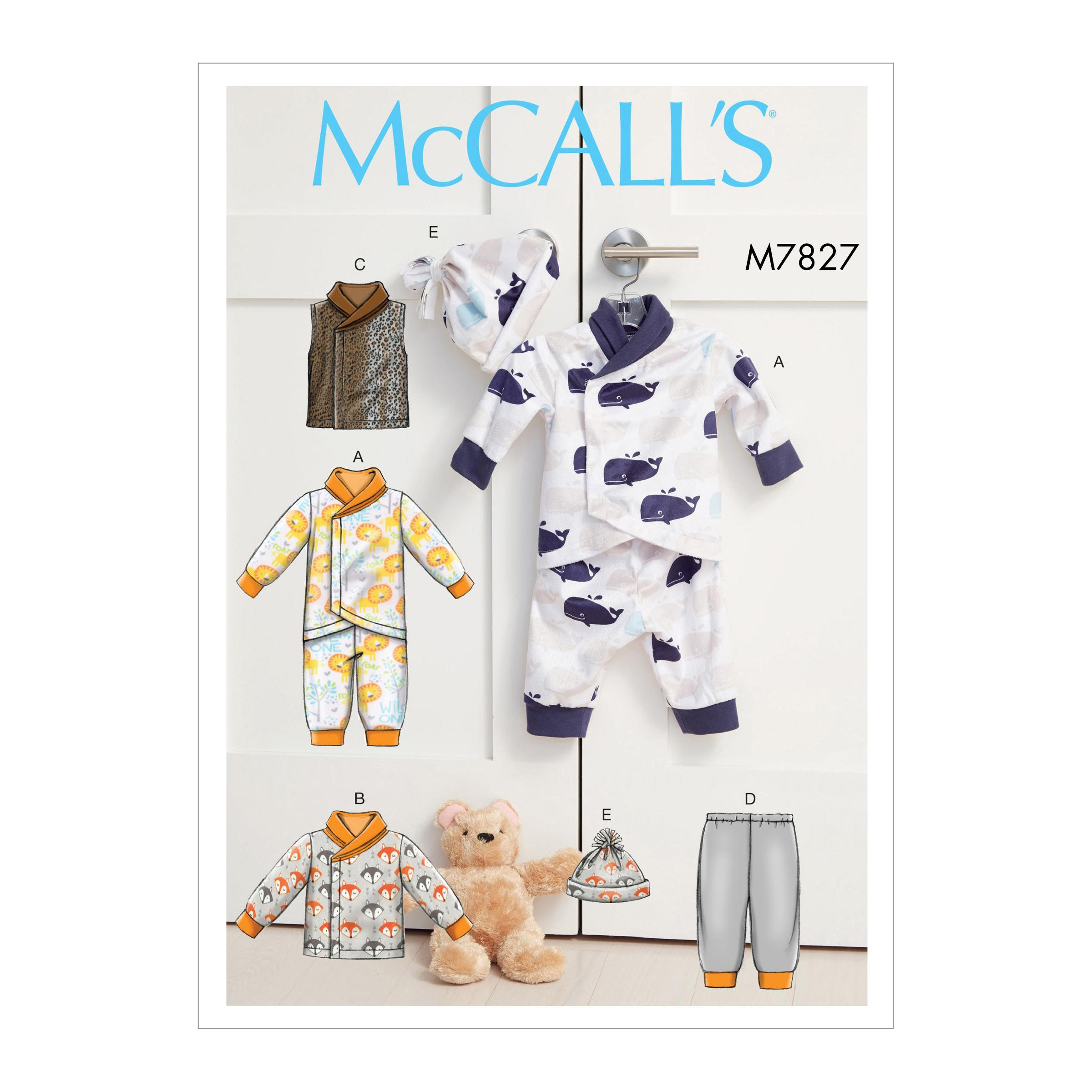 McCalls M7827 Kids Infants & Toddlers