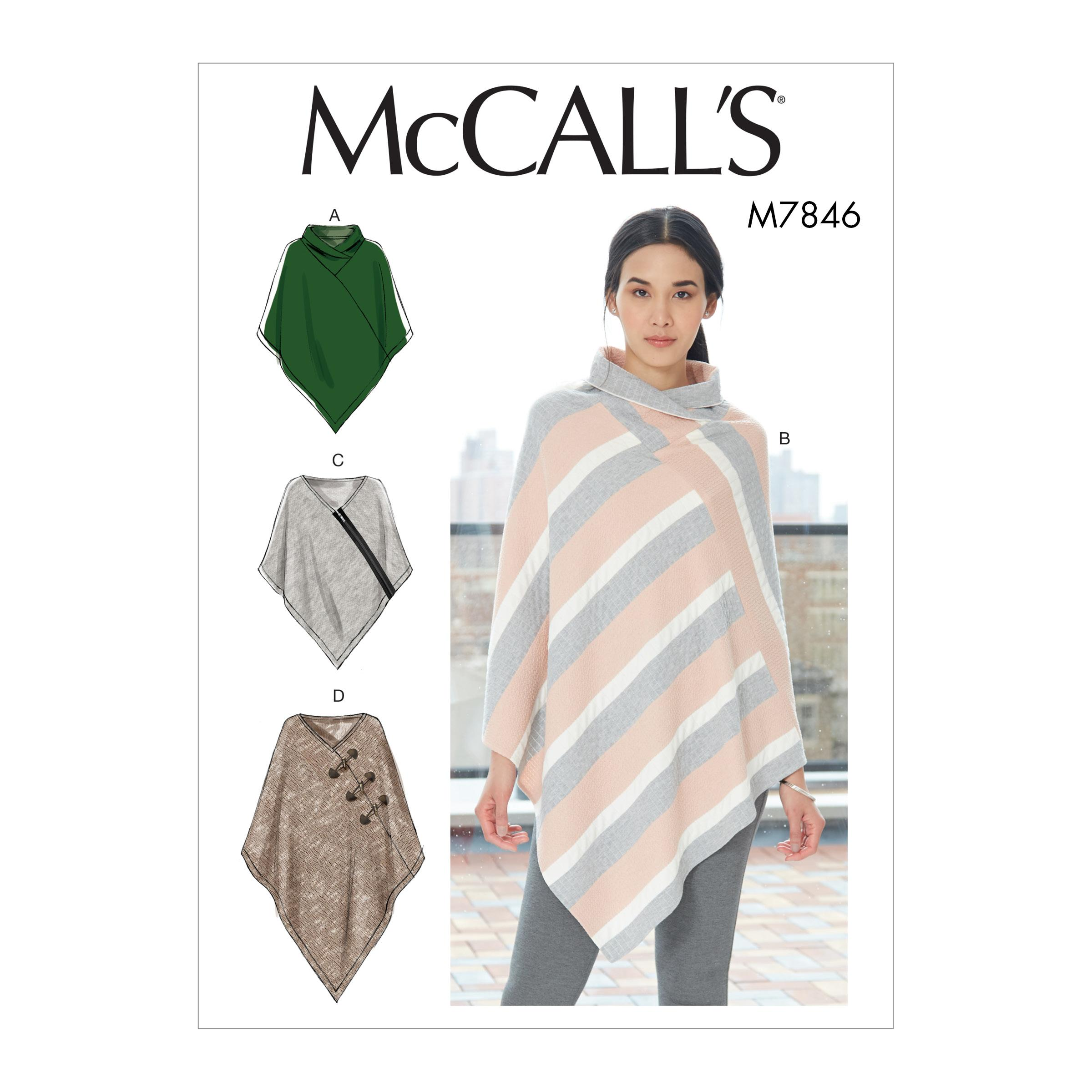McCalls M7846 Misses Coats, Capes & Ponchos