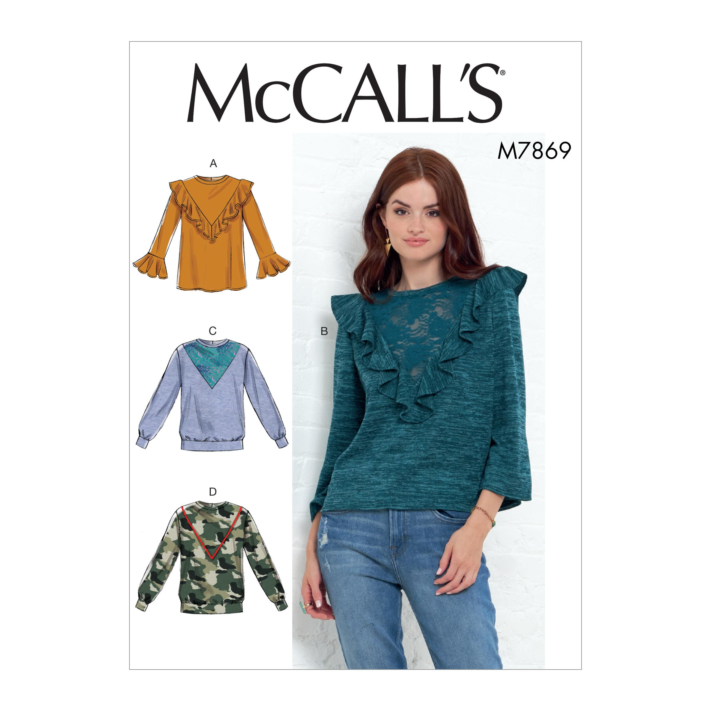 McCalls M7869 Misses Tops