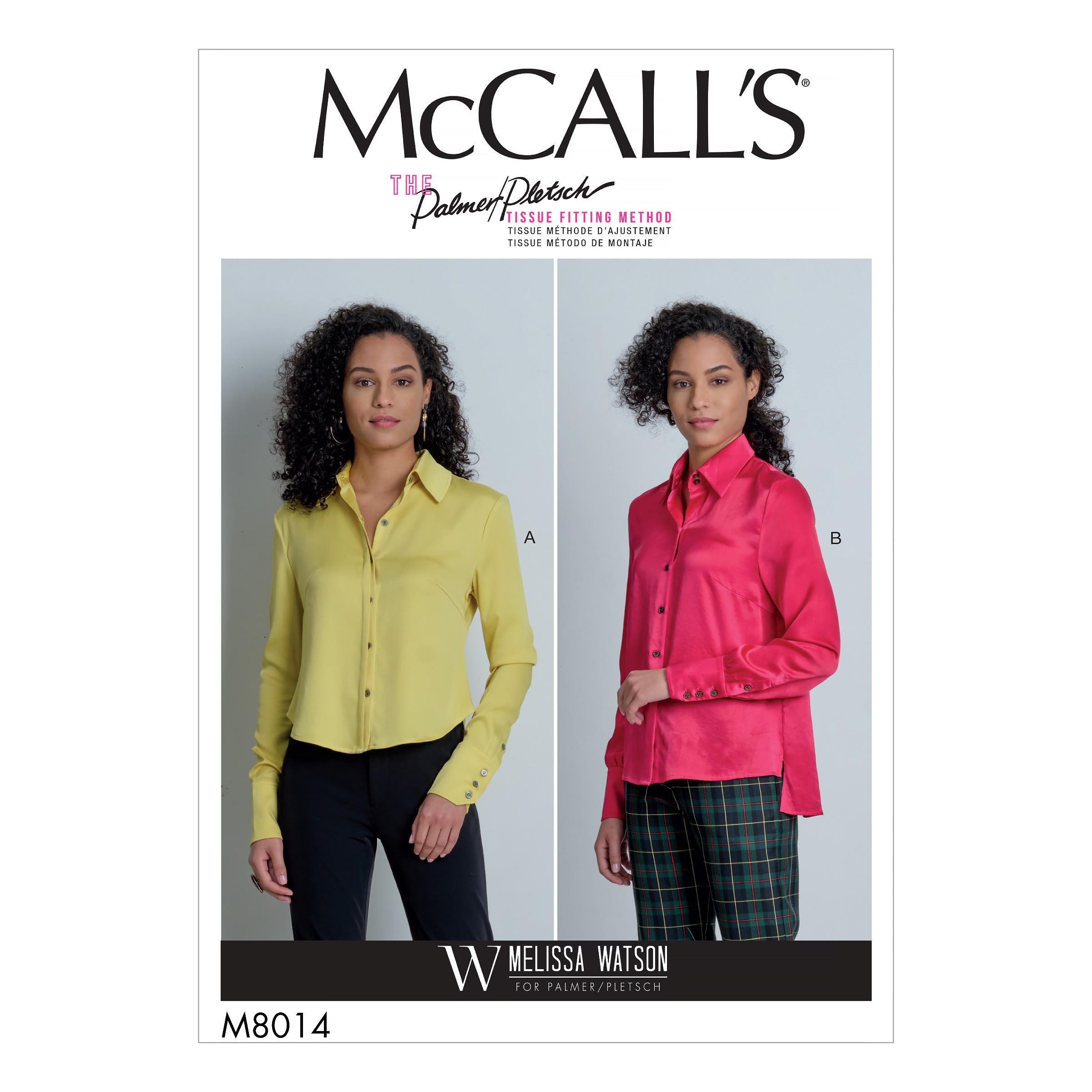 McCalls M8014 Misses Tops