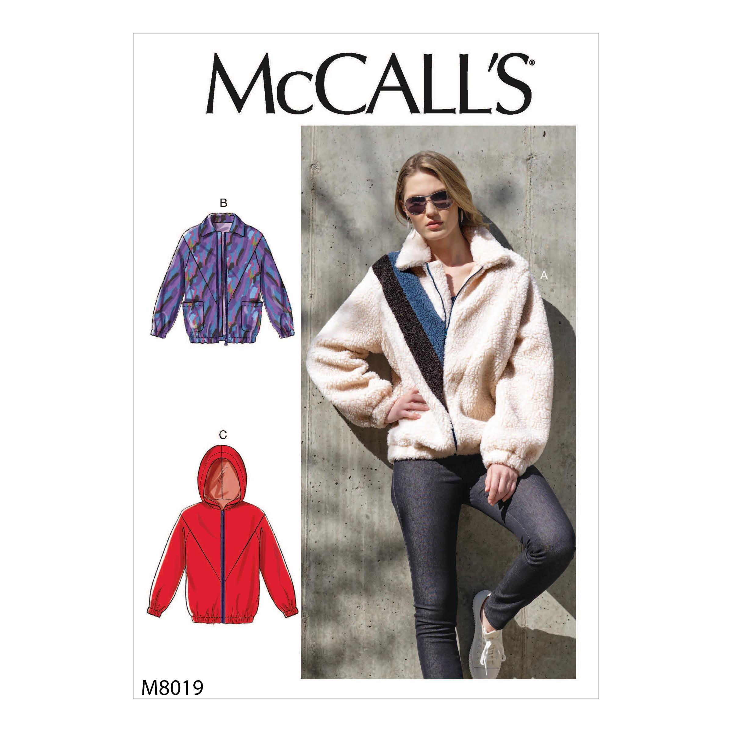 McCalls M8019 Misses Jackets & Vests