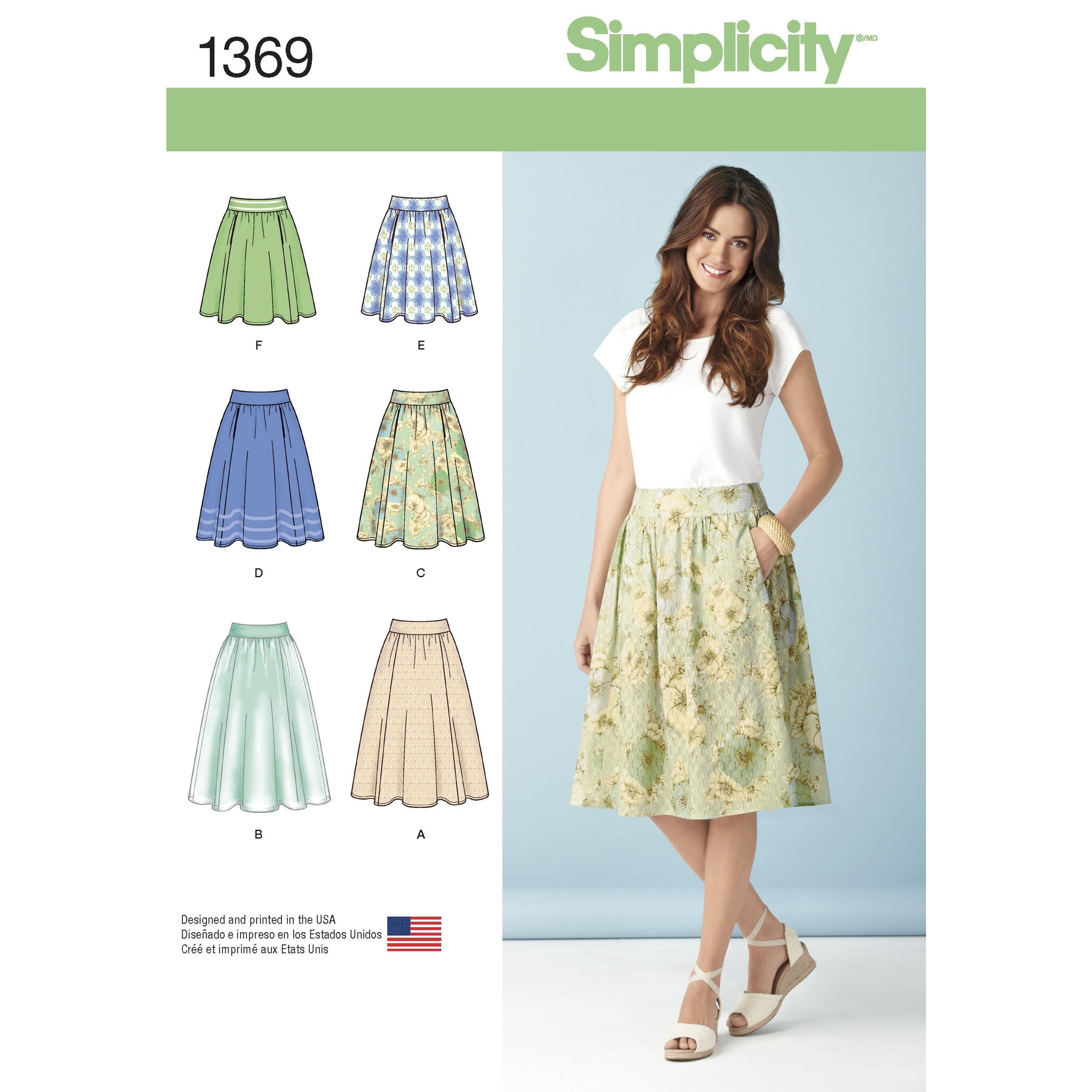 Simplicity S1369 Women's Skirts in Three Lengths
