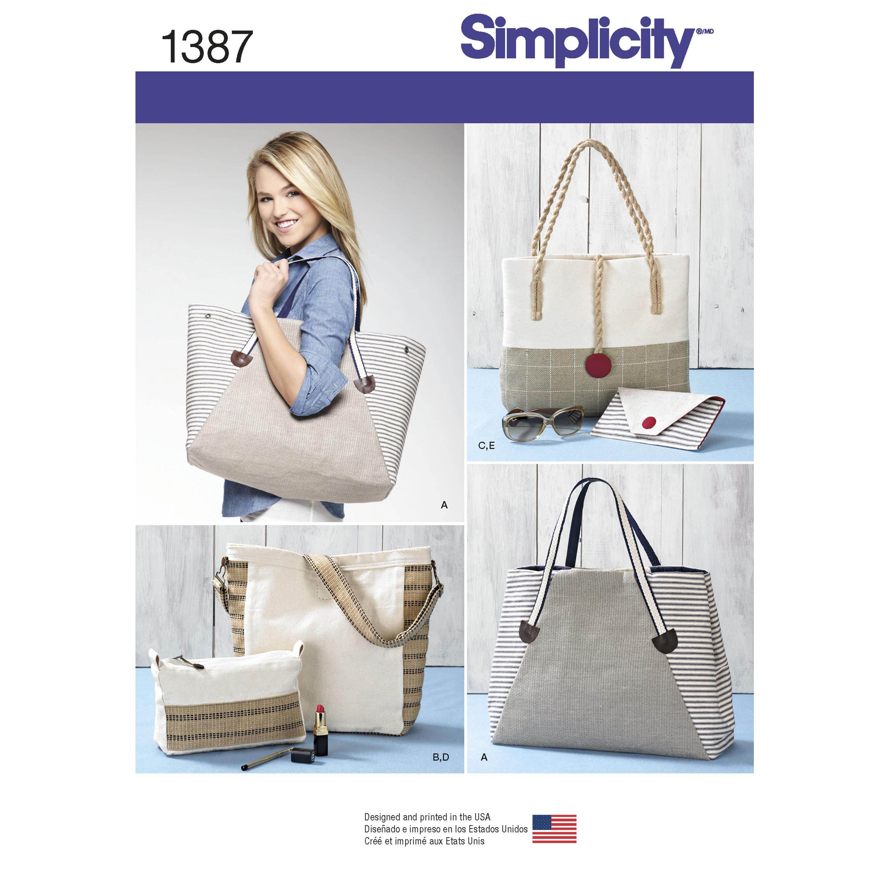 Simplicity S1387 Bags in Assorted Sizes