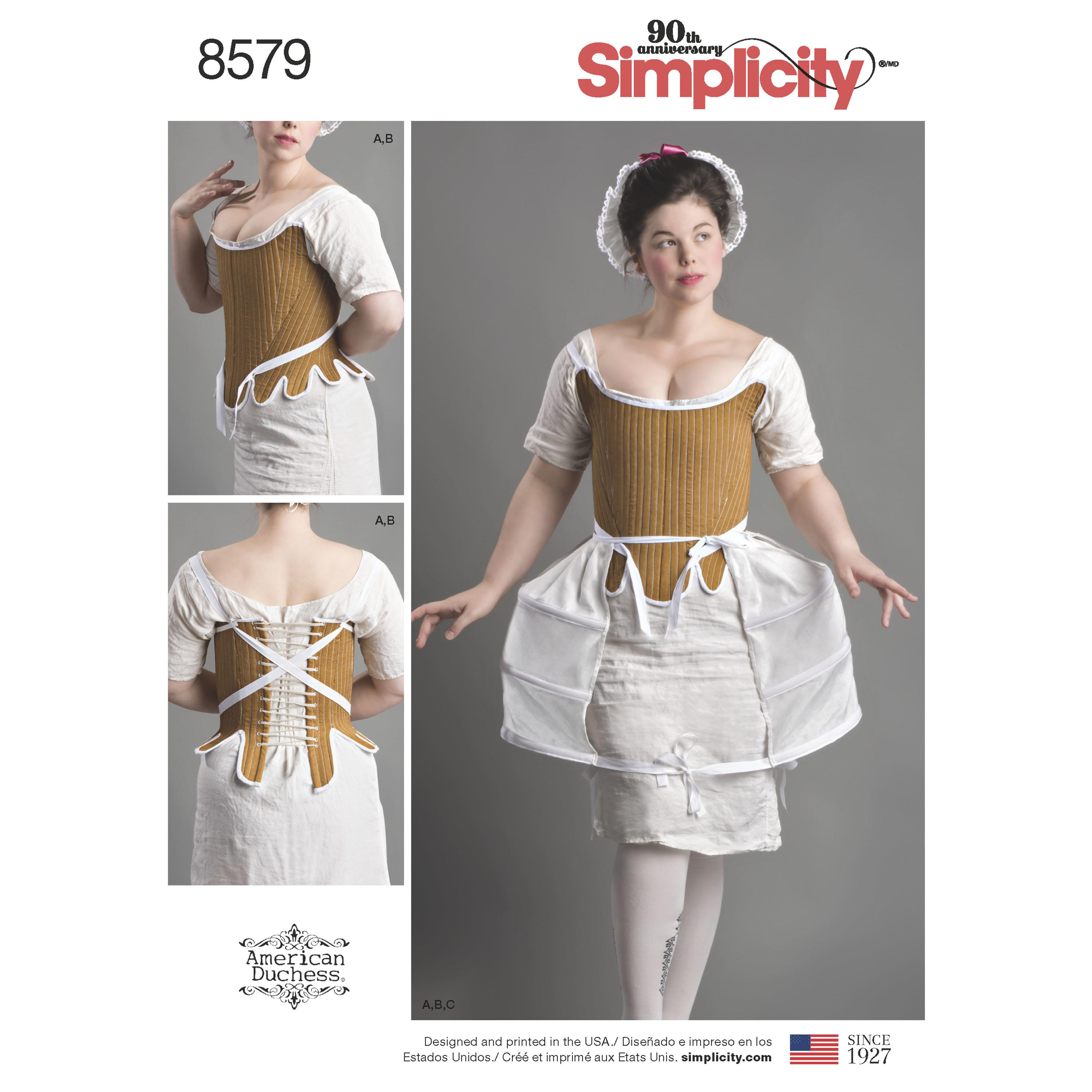 Simplicity S8579 Womens' 18th Century Costume