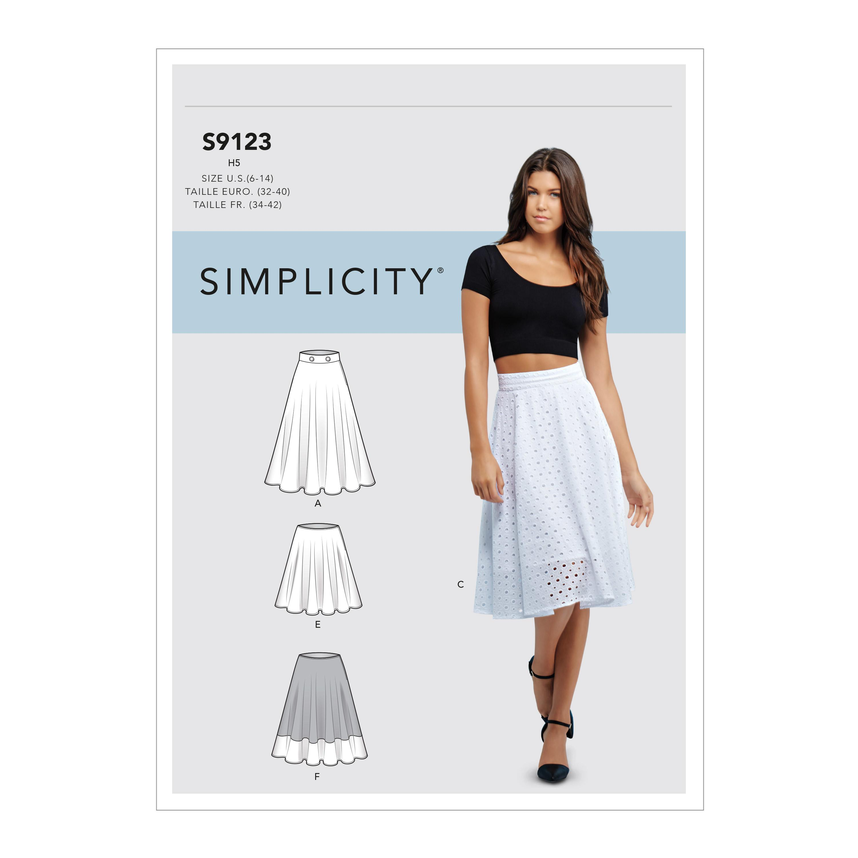 Simplicity S9123 Misses' Skirts
