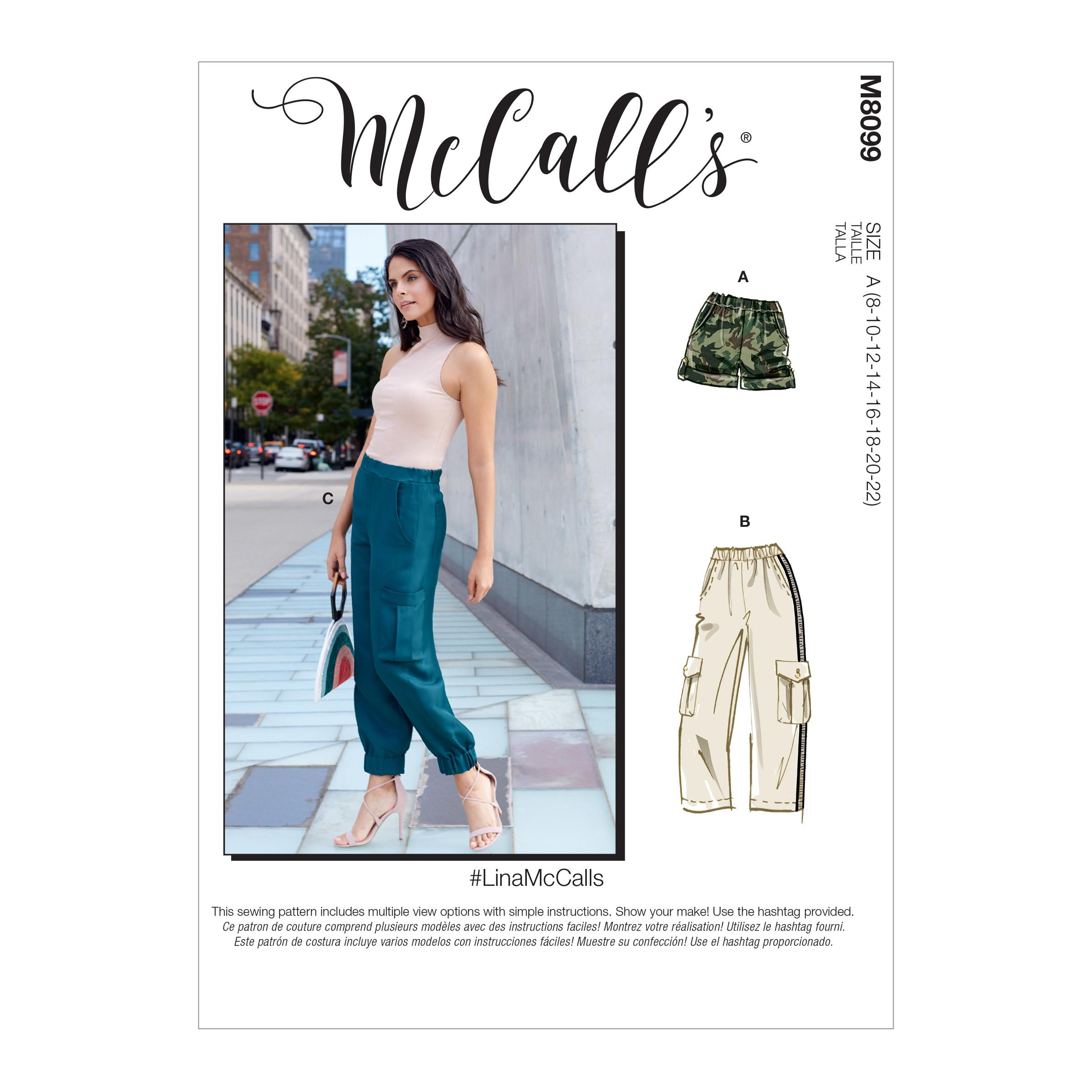 McCalls M8099 #LinaMcCalls - Misses' Shorts & Pants