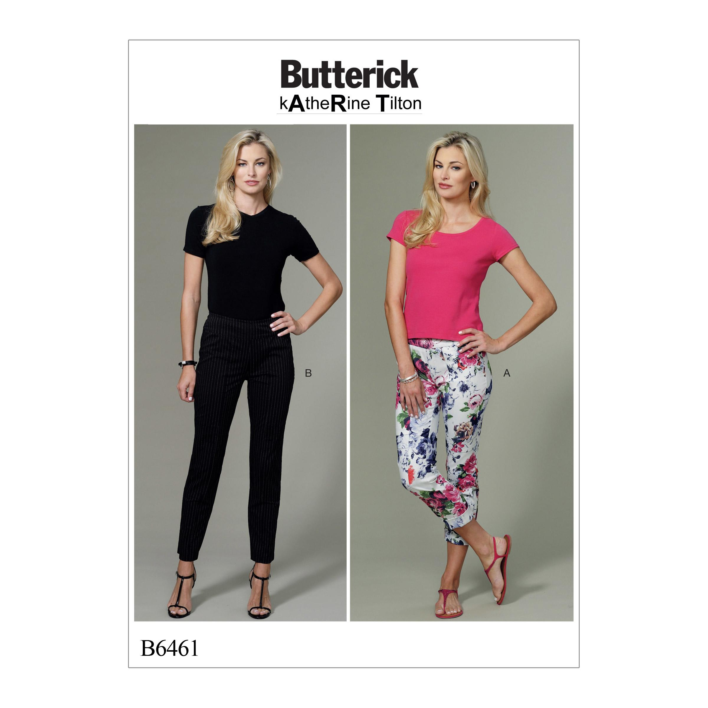 Butterick B6461 Misses' Seam-Detail Pants