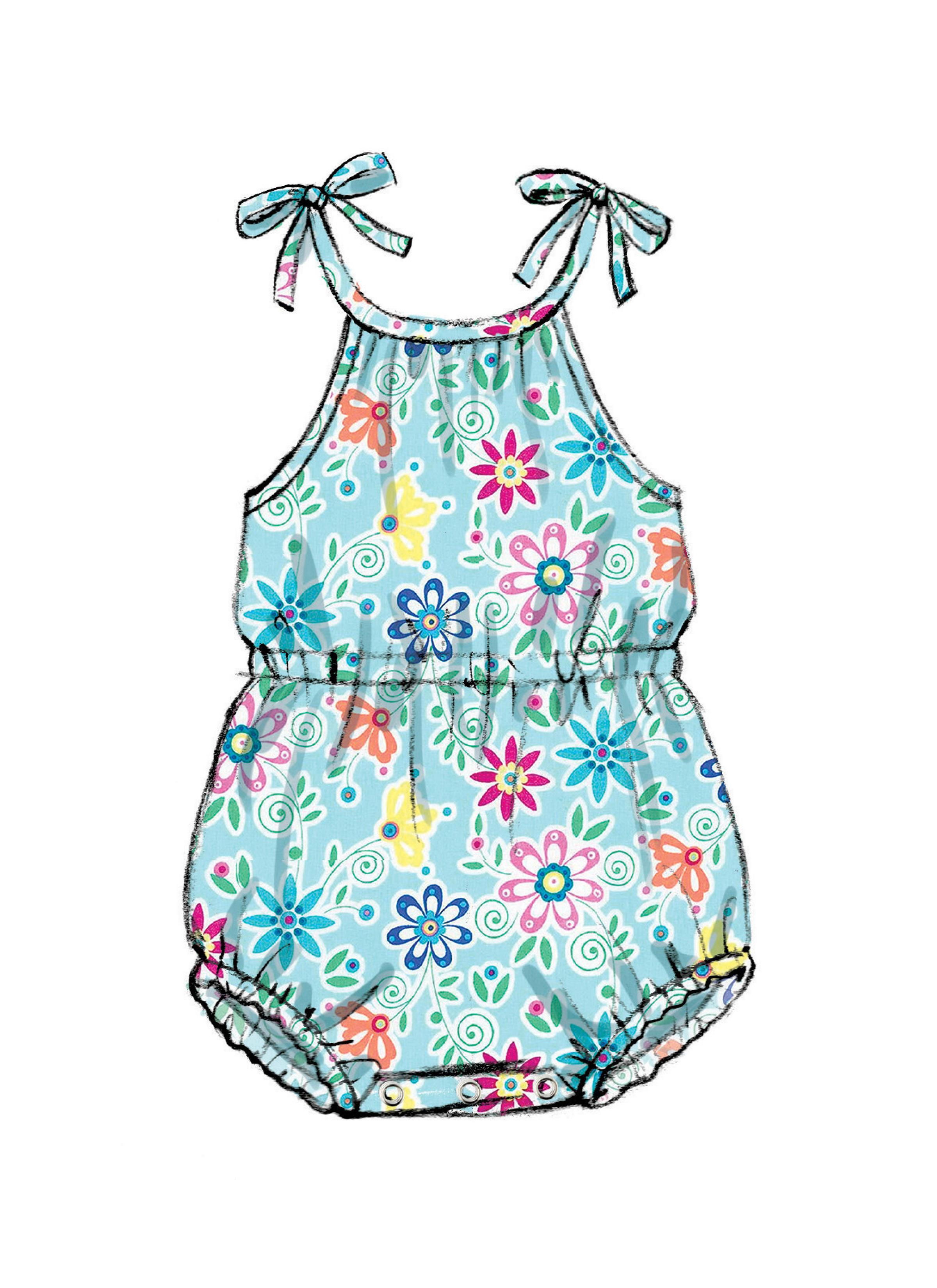 Butterick B6549 Infants Romper, Dress and Panties