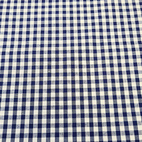 "1/4"" Gingham Polycotton Navy Blue"