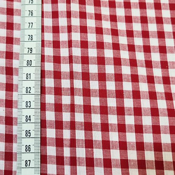 "1/4"" Gingham Polycotton Red"