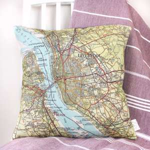 Personalised UK Destination Map Cushion