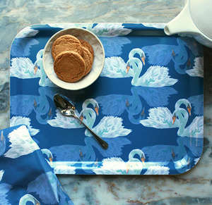 Bibury Medium Blue tray