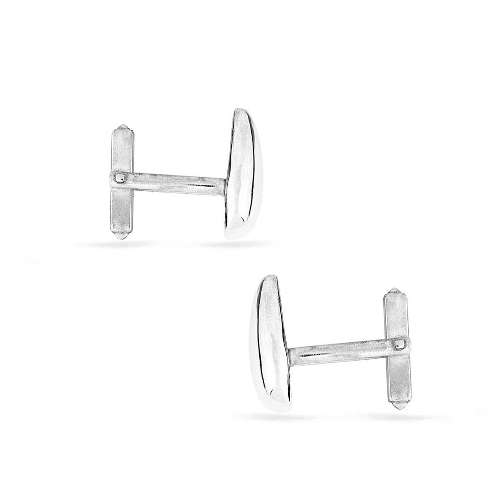 Solid Silver Cufflinks side view