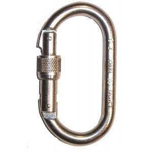 Steel screwgate karabiner