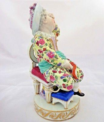 Meissen Porcelain Figurine Boy Tied to Chair M V Acier Model F49  Antique c 1880