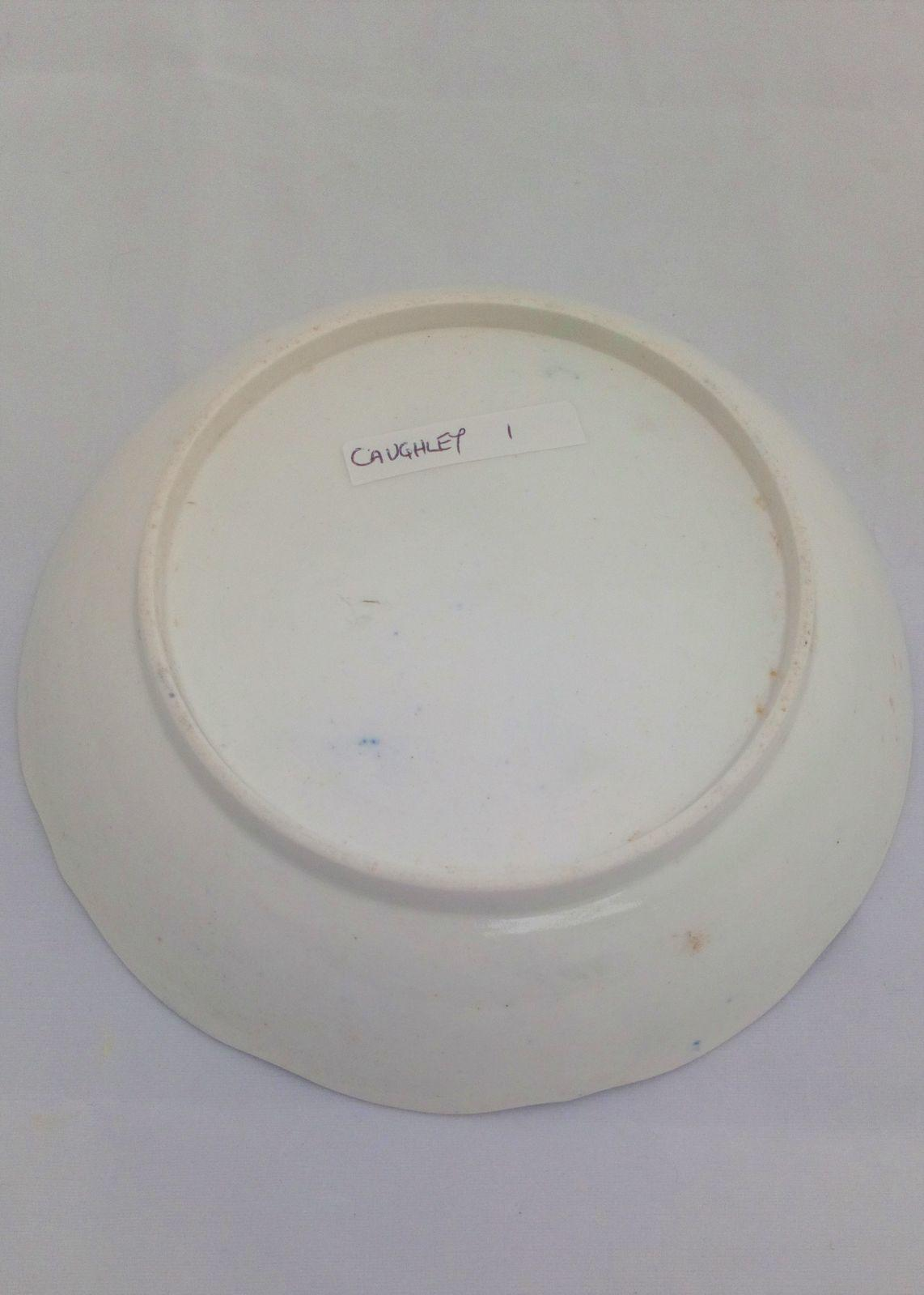 Caughley Porcelain Saucer Blue & White Printed Broseley Pattern Salopian c 1785