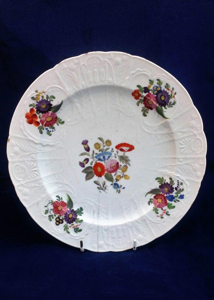 Coalport Dulong Moulded Plate John Rose Antique circa 1820