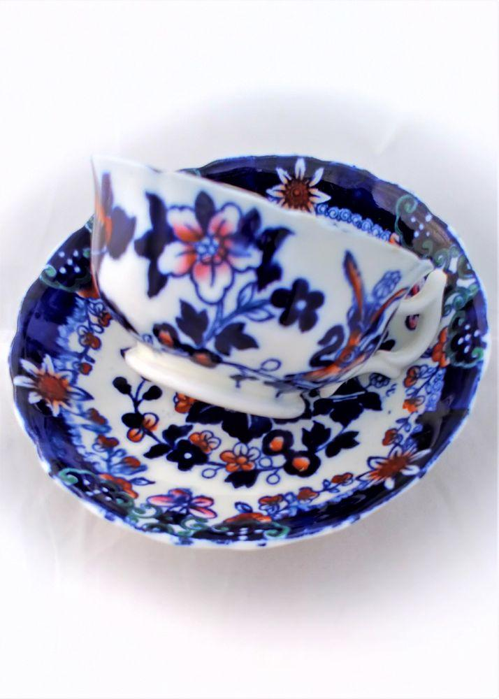 Hibbert and Boughey Porcelain Chinoiserie Tea Cup & Saucer 2549 1890