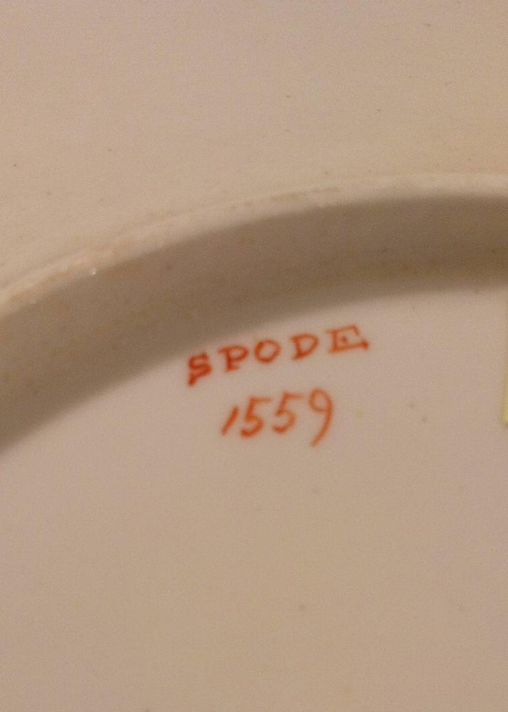 Antique Spode Porcelain Plate Tobacco Leaf Pattern number 1559 Regency period circa 1811 plate b