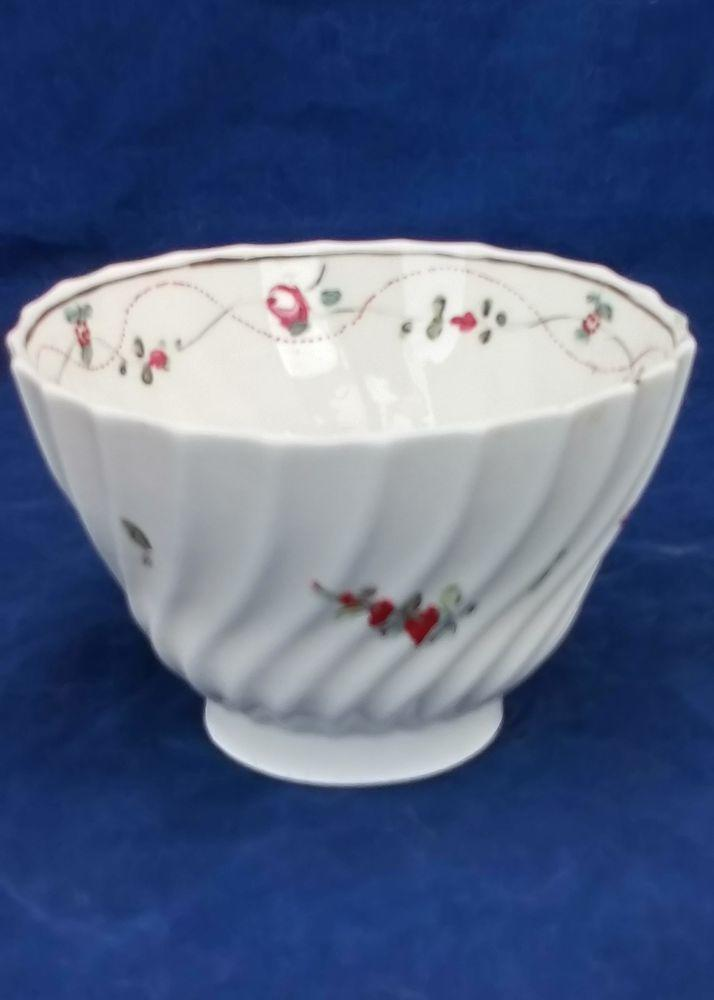 Antique Hybrid Hard Paste Porcelain Spiral Shanked Tea Bowl A and E Keeling and Co previously Factory X circa 1800