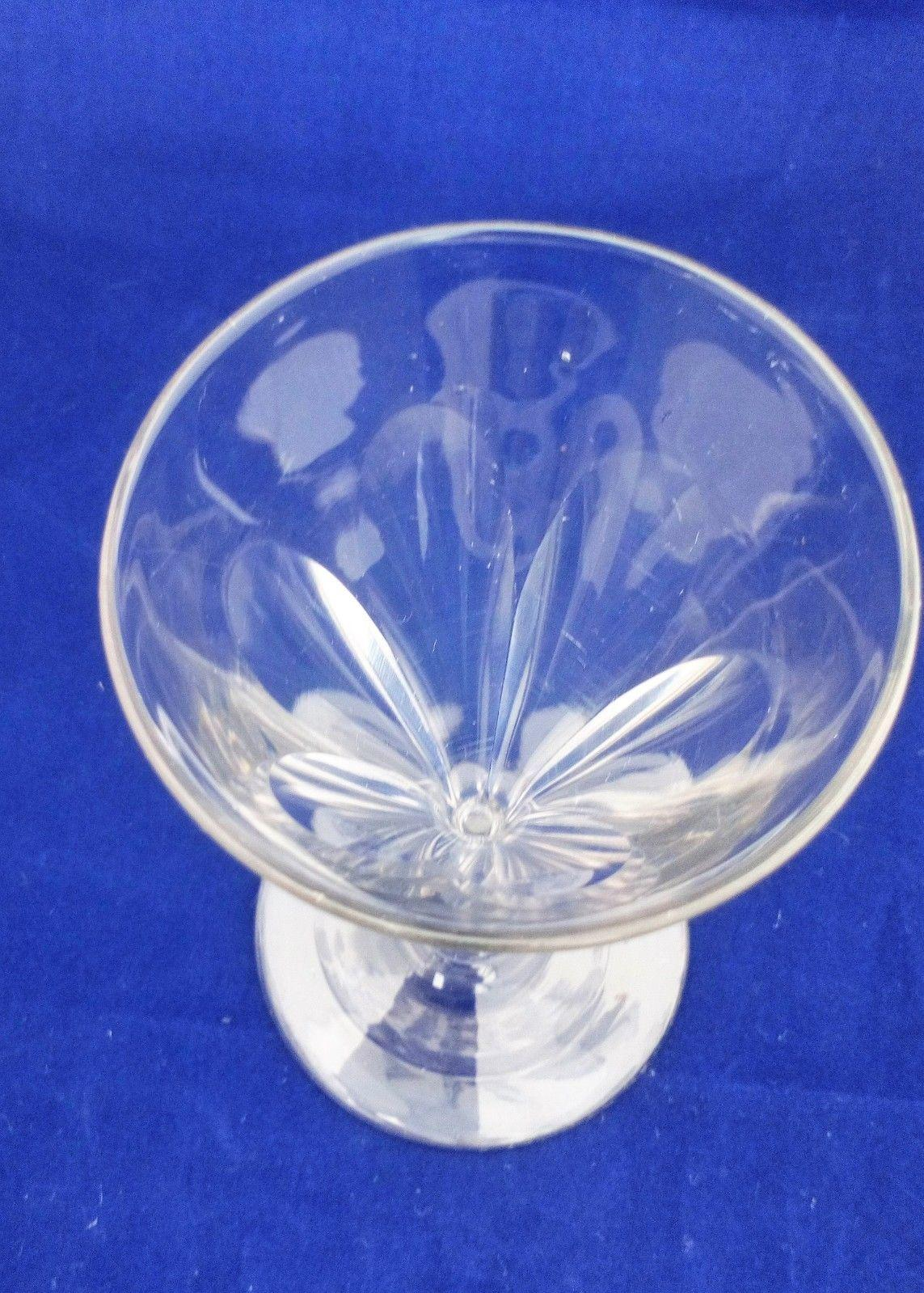 Antique Regency Wine Glass Panel Cut Drawn Trumpet Bowl Ball Knop Stem ca 1820