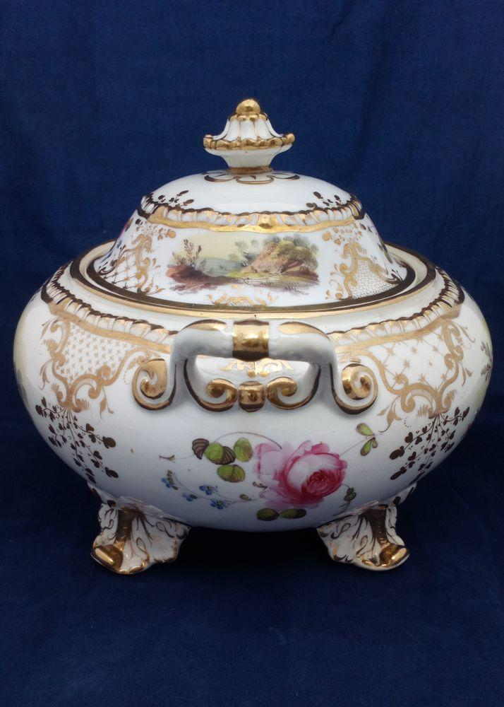 Daniel Porcelain Gadrooned Sucrier or Sugar Box 4347 pattern c 1827