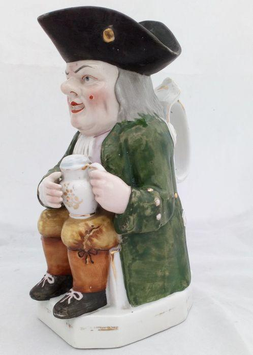 Enamelled Porcelain Ordinary Type Toby Jug French Edme Samson Antique c 1890
