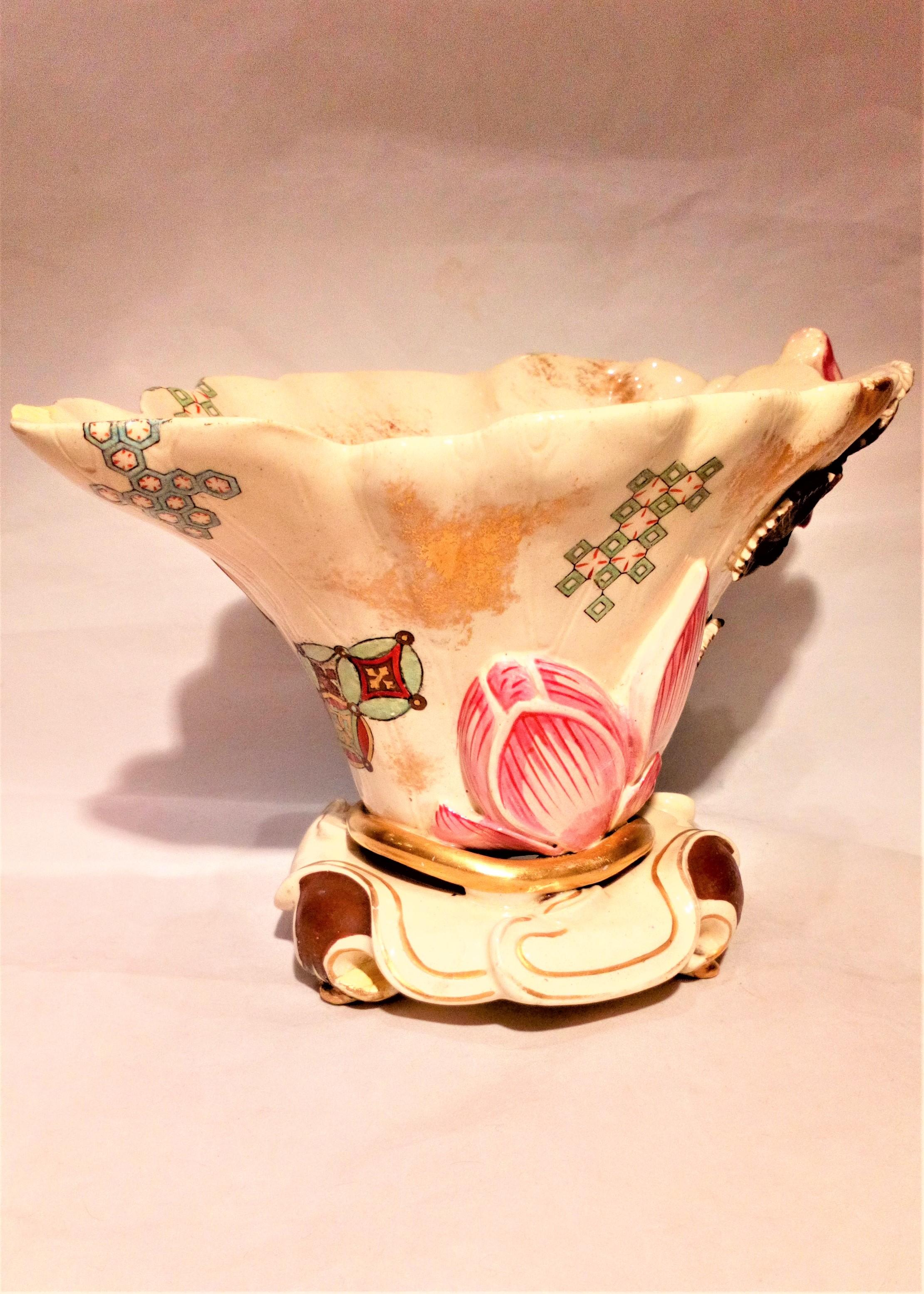 Royal Worcester Blush Ivory Earthenware Japanesque Libation Cup Aesthetic Movement James Hadley circa 1873