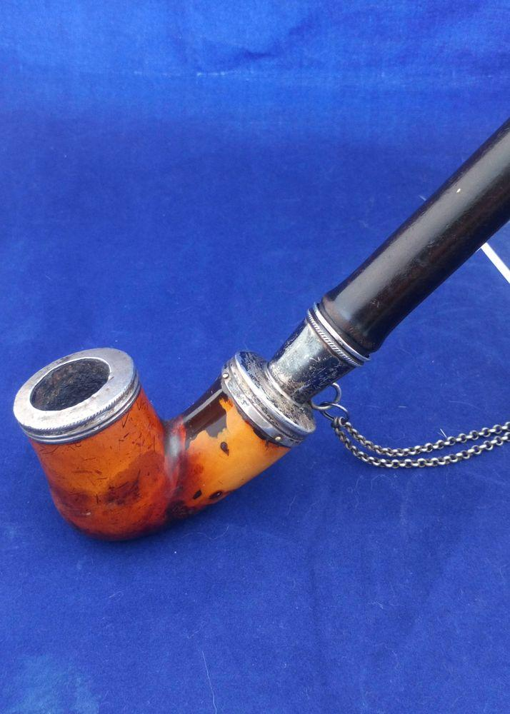 Antique Meerschaum Kalmasch Pipe Churchwarden MOP Pipa 烟斗 C 1850