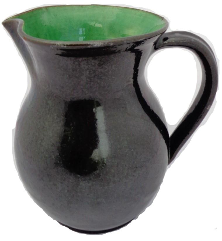 Antique Art Pottery Large Jug with Green Interior Farnham Pottery