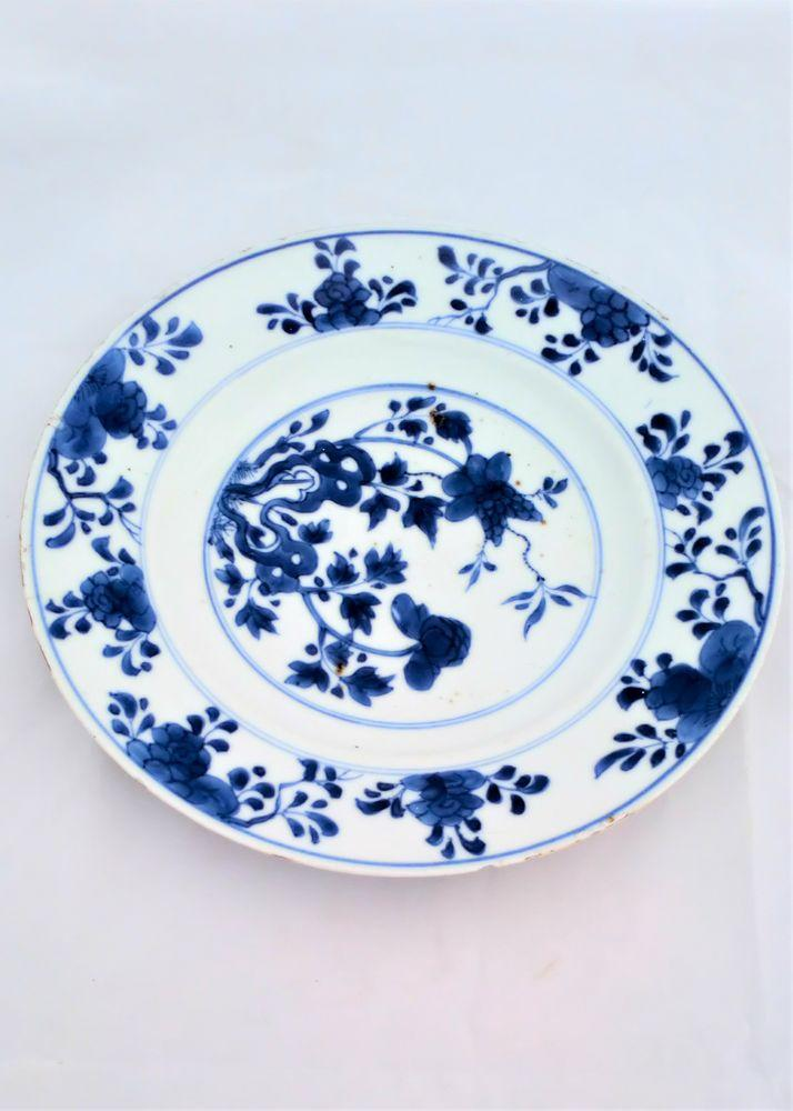 Chinese Porcelain Plate Blue Hollow Rock Prunus Qianlong Qing 18th C