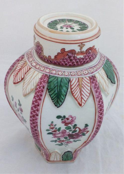 Chinese Style Porcelain Hexagonal Ginger Jar French Edme Samson Antique c 1890