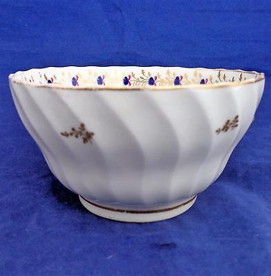 New Hall Waisted Porcelain Bowl Spiral Shanked Pattern 202 Antique 18th C circa 1795