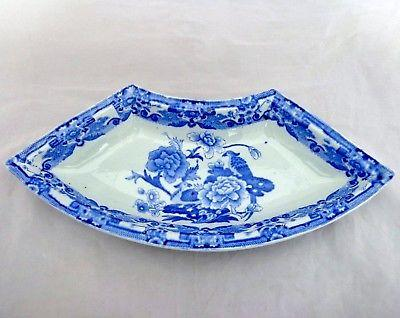 Antique Mason's Ironstone Supper Dish Blue India Pheasant B&W Transfer 1815 -20