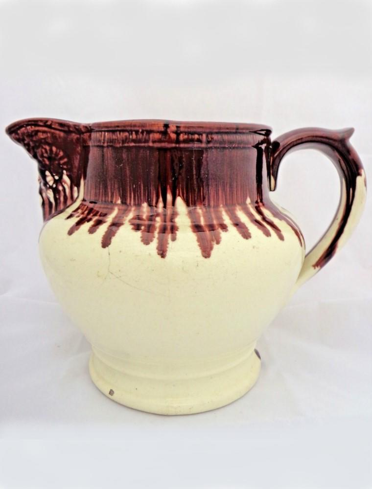 Antique Georgian Gallon Jug Ammon Head Spout c 1830
